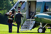 United States President Barack Obama salutes the Marine Guard as he walks toward Marine One on the South Lawn of the White House in Washington, DC, USA on 22 September, 2012. The President is heading to Milwaukee, Wisconsin for a campaign event..Credit: Pete Marovich / Pool via CNP