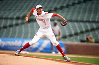 Hans Crouse (7) of Dana Hills High School in Dana Point, California during the Under Armour All-American Game presented by Baseball Factory on July 23, 2016 at Wrigley Field in Chicago, Illinois.  (Mike Janes/Four Seam Images)