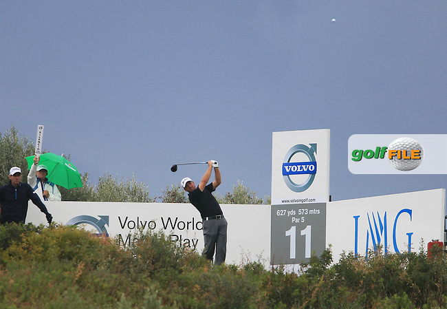 Graeme McDowell (NIR) tees off on the 11th tee during Sunday morning's Semi Final Matches of the Volvo World Matchplay Championship at Finca Cortesin, Casares, Spain 20th May 2012 (Photo Eoin Clarke/www.golffile.ie)