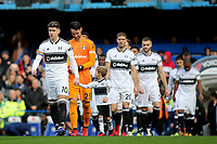 Tom Cairney leads out the Fulham team during Chelsea vs Fulham, Premier League Football at Stamford Bridge on 2nd December 2018