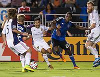 Santa Clara, California - Saturday, August 30, 2014: San Jose Earthquakes tied Real Salt Lake 1-1 at Buck Shaw Stadium
