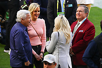 2nd February 2020, Miami Gardens, Florida, USA;   New England Patriots owner Robert Kraft along with Dana Blumberg and New England Patriots coach Bill Belichick and Debby Belichick on the field prior to Super Bowl LIV on February 2, 2020 at Hard Rock Stadium in Miami Gardens