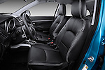 Front leather seats of a 2012 Mitsubishi Outlander Sport