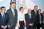 King Felipe VI of Spain and Queen Letizia attends to the <br /> inauguration of the 35th exhibition of contemporary art ARCO Madrid 2016, at Ifema Madrid. February 25, 2016. (ALTERPHOTOS/BorjaB.Hojas)