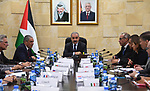 Palestinian Prime Minister Mohammad Ishtayeh meets with Ambassadors and representatives of the European Union, in the West Bank city of Ramallah, July 25, 2019. Photo by Prime Minister Office