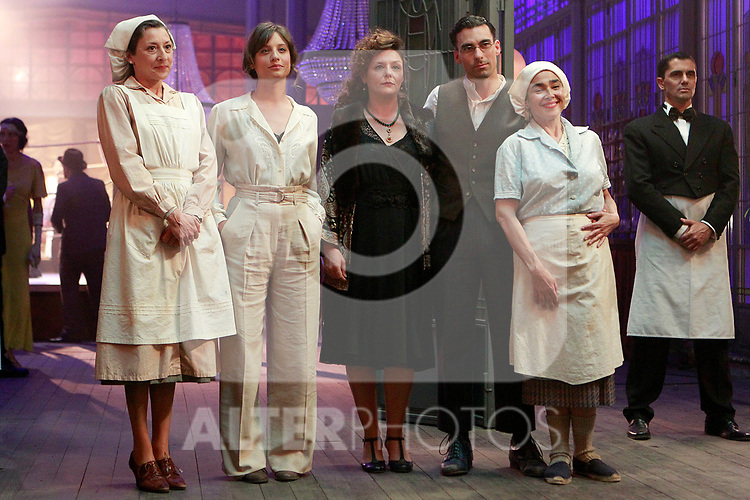Mariola Fuentes, Michelle Jenner, Estefanía de los Santos, Christian Sanchez and  during the filming of the TVE series 'El Continental'. June 19, 2018. (ALTERPHOTOS/Acero)