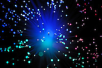 Blue, Green and red light from fiber optic
