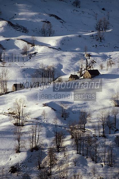 Europe/France/Midi-Pyrénées/65/Hautes-Pyrénées/Env Col du Soulor: Granges d'altitude
