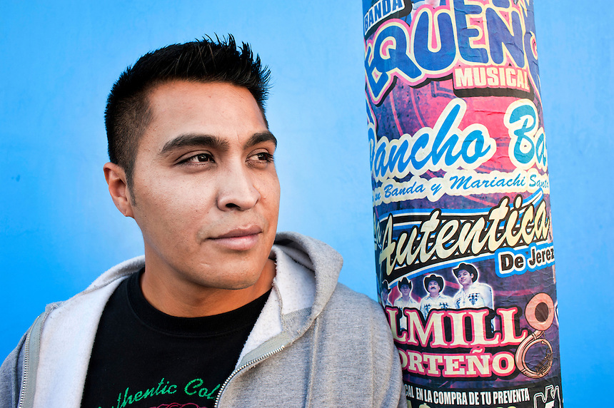 Antonio Zúñiga, released 2 years ago after serving almost 2.5 years of a life sentence for a murder he was later proved innocent of committing.  He now lives 2 blocks from where he we=as picked up by the police and is a rapper. Iztapalapa, Mexico D.F.