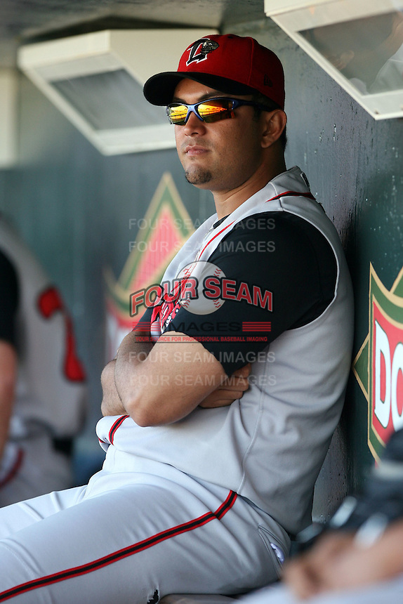 June 15th 2008:  Manny Rodriguez of the Lansing Lugnuts, Class-A affiliate of the Toronto Blue Jays, during a game at Dow Diamond in Midland, MI.  Photo by:  Mike Janes/Four Seam Images