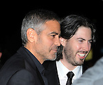 "WESTWOOD, CA. - November 30: George Clooney and Jason Reitman arrive at the ""Up In The Air"" Los Angeles Premiere at Mann Village Theatre on November 30, 2009 in Westwood, California."