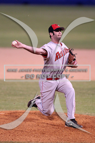 Illinois State Redbirds pitcher Matt Werderitch #7 during a game vs. Bowling Green at Chain of Lakes Park in Winter Haven, Florida;  March 6, 2011.  Illinois State defeated Bowling Green 18-10.  Photo By Mike Janes/Four Seam Images