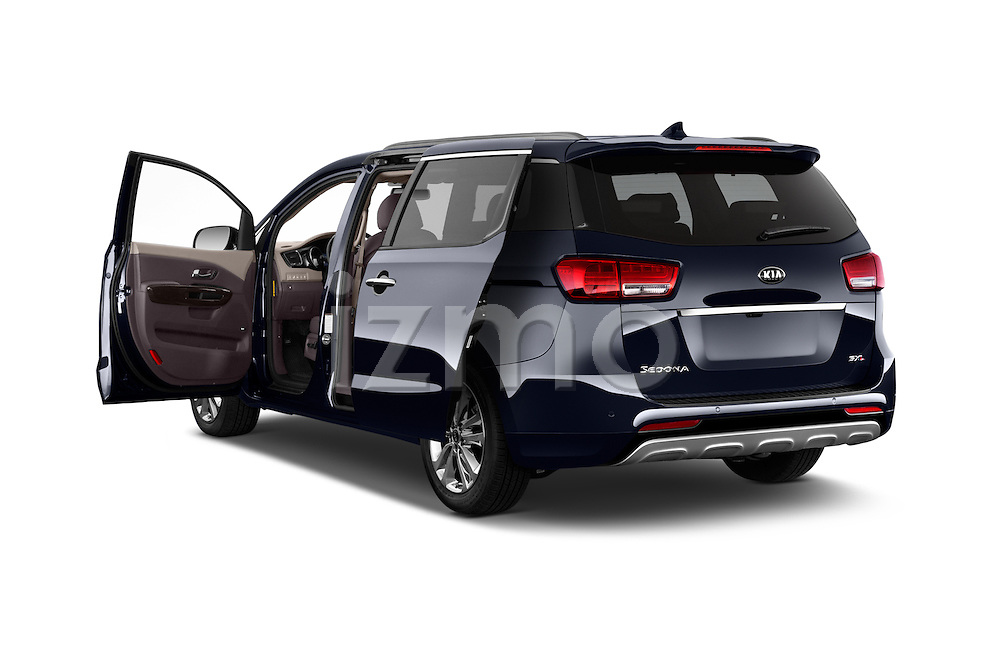 Car images close up view of a 2015 KIA Sedona LX Hybrid 5 Door Mini Van doors