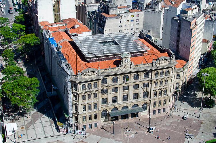 Vista de cima  do Centro Cultural Correios de São Paulo, São Paulo-SP, 01/2014.