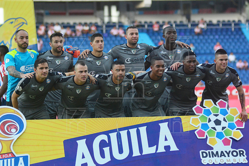 BARRANQUIILLA - COLOMBIA, 03-10-2019: Jugadores del Equidad posan para una foto previo al partido por la fecha 14 de la Liga Águila II 2019 entre Atlético Junior y La Equidad jugado en el estadio Metropolitano Roberto Melendez de la ciudad de Barranquilla. / Players of Equidad pose to a photo during match for the date 14 as part Aguila League II 2019 between Atletico Junior and La Equidad played at Metropolitano Roberto Melendez stadium in Barranquilla city.  Photo: VizzorImage/ Alfonso Cervantes / Cont