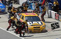 May 6, 2007; Richmond, VA, USA; Nascar Nextel Cup Series driver Dave Blaney (22) pits during the Jim Stewart 400 at Richmond International Raceway. Mandatory Credit: Mark J. Rebilas