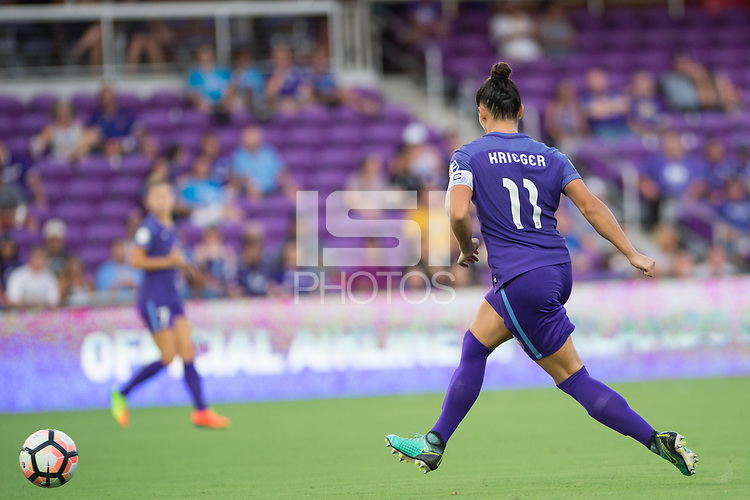 Orlando, FL - Tuesday August 08, 2017: Ali Krieger during a regular season National Women's Soccer League (NWSL) match between the Orlando Pride and the Chicago Red Stars at Orlando City Stadium.