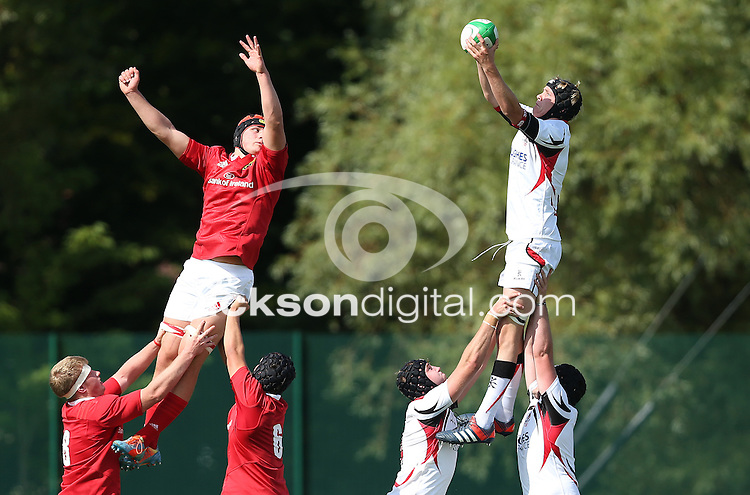 ULSTER U19 vs MUNSTER U19 | Saturday 5th September 2015<br /> <br /> John McKinnley<br /> Ulster U19 vs Munster U19 at the Queens University Arena, The Dub, Belfast, Northern Ireland.<br /> <br /> Photo : John Dickson - DICKSONDIGITAL