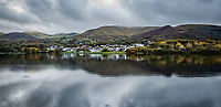 Pictured: Llyn Padarn lake in Llanberis. Saturday 02 November 2019<br /> Re: North Wales, UK.