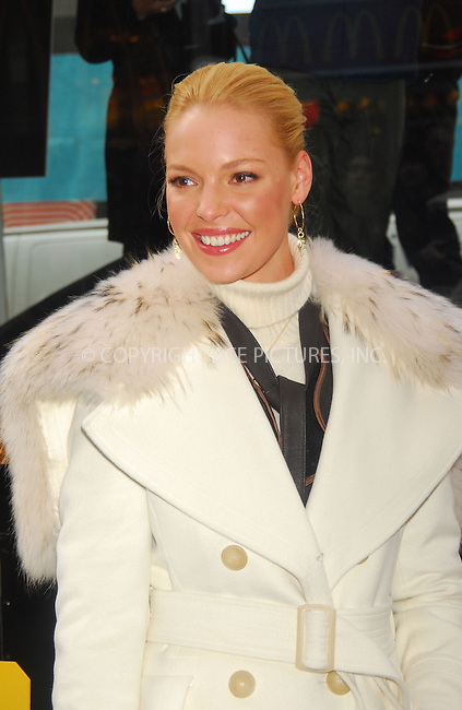WWW.ACEPIXS.COM . . . . . ....February 8, 2007, New York City. ....'Grey's Anatomy' actress Katherine Heigl and Pedigree Food for Dogs Launch the 3rd Annual Pedigree Adoption Drive in Times Square. ....Please byline: KRISTIN CALLAHAN - ACEPIXS.COM.. . . . . . ..Ace Pictures, Inc:  ..(212) 243-8787 or (646) 769 0430..e-mail: info@acepixs.com..web: http://www.acepixs.com