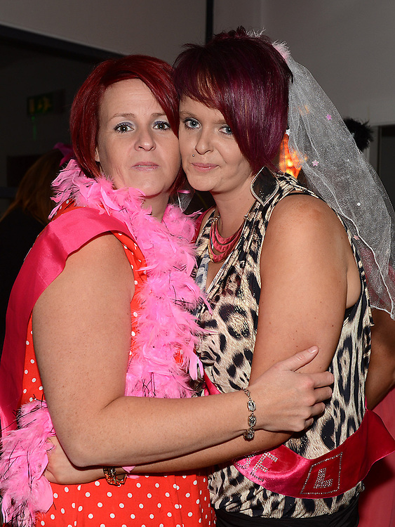 Ciara McGuirk celebrating her hen night in Brú with chief bridesmaid Denise Tuohy. Photo:Colin Bell/pressphotos.ie