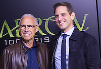 VANCOUVER, BC - OCTOBER 22: Eugene Berlanti and Greg Berlanti at the 100th episode celebration for tv's Arrow at the Fairmont Pacific Rim Hotel in Vancouver, British Columbia on October 22, 2016. Credit: Michael Sean Lee/MediaPunch