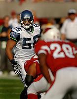 Nov. 6, 2005; Tempe, AZ, USA; Linebacker (56) Leroy Hill of the Seattle Seahawks against the Arizona Cardinals at Sun Devil Stadium. Mandatory Credit: Mark J. Rebilas