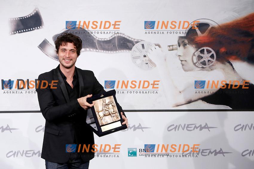 Best actor award: Jeremie Elkaim by 'Main dans la main' .Roma 17/11/2012 Auditorium Festival del Cinema di Roma.Foto Matteo Minnella/ Insidefoto