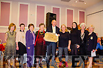 BRIDGING KENMARE: Piuctured at the 41st Kenmare Bridge Congress held at the town's Bay Hotel are l-r Naura Foley, Moira Coughlan, Sue O'Sullivan, PAIRS WINNERS Eileen Murphy and Harry Naaykens, Noreen McCarthy, Aisling McCarthy, Olive Rose and Emer Kee.