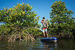 Chris Bertish, winner of the Mavericks Big Wave Surf contest (2009) and the first person to cross the Atlantic Ocean on a stand up paddle board (2017), explores the Thor Heyerdahl Climate Park, Myanmar. He visited the project as part of his ongoing commitment to marine conservation.