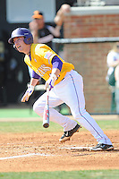 Tyler Hanover #11 of the LSU Tigers at Lindsey Nelson Stadium in game against Tennessee Volunteers in Knoxville, TN March 27, 2010 (Photo by Tony Farlow/Four Seam Images)