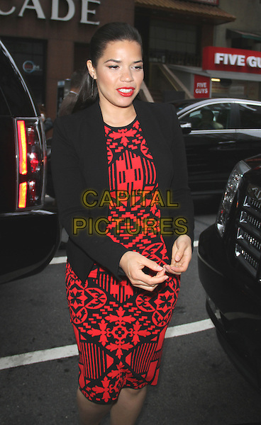 NEW YORK, NY - JUNE 12: America Ferrera at NBC's Today Show promoting her new film, How to Train Your Dragon 2 on June 12, 2014  in New York City.   <br /> CAP/MPI/RW<br /> &copy;RW/ MediaPunch/Capital Pictures