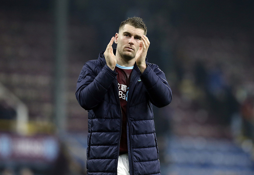 Burnley's Ashley Barnes looks dejected as he applauds the fans at the final whistle<br /> <br /> Photographer Rich Linley/CameraSport<br /> <br /> The Premier League - Burnley v Everton - Wednesday 26th December 2018 - Turf Moor - Burnley<br /> <br /> World Copyright © 2018 CameraSport. All rights reserved. 43 Linden Ave. Countesthorpe. Leicester. England. LE8 5PG - Tel: +44 (0) 116 277 4147 - admin@camerasport.com - www.camerasport.com