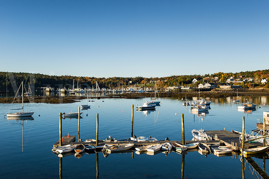Scenic Southwest Harbor, Mt Desert Island, Maine, USA