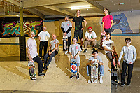 People taking part in the Urban Skatboarding Group, at Exist Skatepark in Swansea, Wales, UK. Thursday 27 September 2018