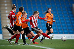 Katie Wilkinson of Sheffield Utd scoring the third goal during the The FA Women's Championship match at the Proact Stadium, Chesterfield. Picture date: 8th December 2019. Picture credit should read: Simon Bellis/Sportimage