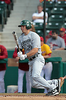 Ethan Loosen (21) of the Jacksonville Dolphins bats against the USC Trojans at Dedeaux Field on February 19, 2012 in Los Angeles,California. USC defeated Jacksonville 4-3.(Larry Goren/Four Seam Images)