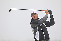 Tyrone Clarke (Royal Portrush) on the 1st tee during Round 1 - Matchplay of the North of Ireland Championship at Royal Portrush Golf Club, Portrush, Co. Antrim on Wednesday 11th July 2018.<br /> Picture:  Thos Caffrey / Golffile
