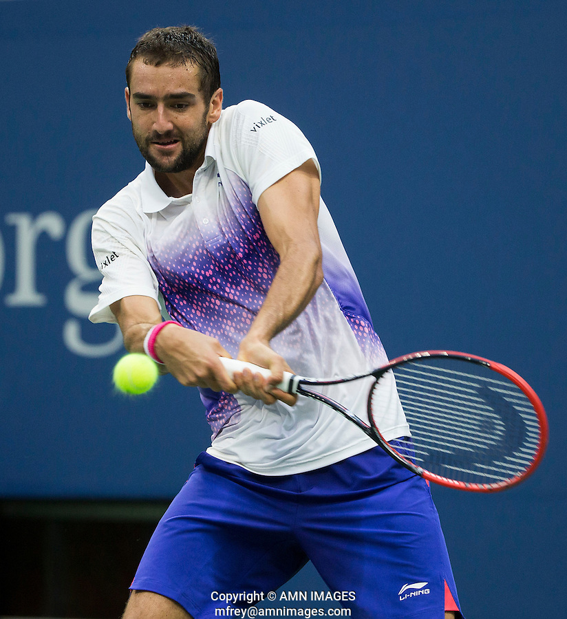 MARIN CILIC (CRO)<br /> <br /> The US Open Tennis Championships 2015 - USTA Billie Jean King National Tennis Centre -  Flushing - New York - USA -   ATP - ITF -WTA  2015  - Grand Slam - USA  <br /> <br /> &copy; AMN IMAGES