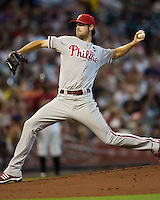 Hamels, Cole 5561.jpg Philadelphia Phillies at Houston Astros. Major League Baseball. September 6th, 2009 at Minute Maid Park in Houston, Texas. Photo by Andrew Woolley.