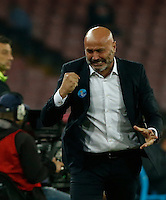 Stefano colantuono reacts during the  italian serie a soccer match,between SSC Napoli and Udinese      at  the San  Paolo   stadium in Naples  Italy , November 08, 2015