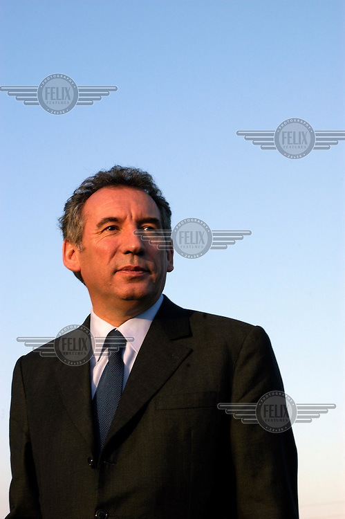 Presidential candidate Francois Bayrou, leader of the UDF party, on the campaign trail.
