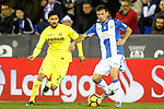 CD Leganes' Alberto Martin (r) and Villarreal CF's Roberto Soriano during La Liga match. December 3,2016. (ALTERPHOTOS/Acero)