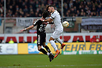 GER - Sandhausen, Germany, March 19: During the 2. Bundesliga soccer match between SV Sandhausen (white) and FC ST. Pauli (grey) on March 19, 2016 at Hardtwaldstadion in Sandhausen, Germany. (Photo by Dirk Markgraf / www.265-images.com) *** Local caption *** Jan-Philipp Kalla #27 of FC St. Pauli, Leart Paqarada #19 of SV Sandhausen