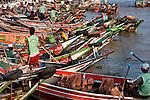Asia, Myanmar (Burma), Yangon (Rangoon). Life on the Yangon docks.