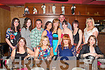 DOUBLE 21ST: Sinead Leane, Castleisland and Mag O'Connor, Scartaglin enjoying a great time celebrating their 21st birthday with family and friends at La Scala's restaurant on Thursday seated l-r: Claire Kelly, Sinead Leane, Mag O'Connor and Frances O'Connor. Back l-r: Lisa Killeen, Edel Walsh, Shaun Hinchey, Jackie Crowe, Regina Dalton, Liam Heffernan, Noreen Breen, Mary Ellen Dineen and Caite Riordan.