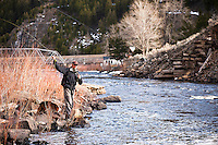 A fly-fisherman casts near Silverbridge on the Big Hole River in southwest Montana.