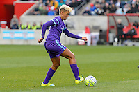 Bridgeview, IL, USA - Sunday, May 1, 2016: Orlando Pride midfielder Lianne Sanderson (10) during a regular season National Women's Soccer League match between the Chicago Red Stars and the Orlando Pride at Toyota Park. Chicago won 1-0.