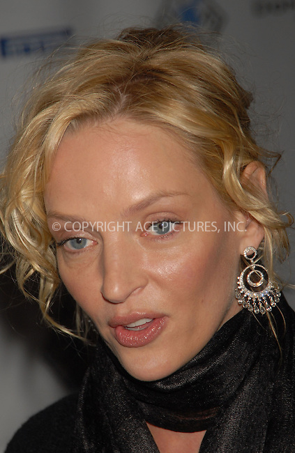 WWW.ACEPIXS.COM . . . . . ....January 23rd, 2007, New York City. ....Uma Thurman Hosts Evening at Christies to Benefit Room to Grow. ....Please byline: KRISTIN CALLAHAN - ACEPIXS.COM.. . . . . . ..Ace Pictures, Inc:  ..(212) 243-8787 or (646) 769 0430..e-mail: info@acepixs.com..web: http://www.acepixs.com