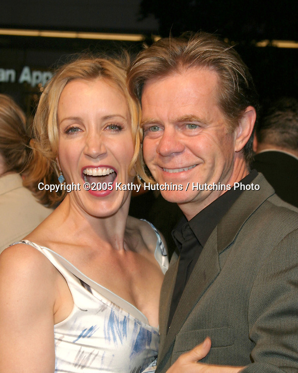 William H. Macy.and wife Felicity Huffman.Sarhara Premiere.Grauman's Chinese Theater.Los Angeles, CA.April 4, 2005.@Kathy Hutchins / Hutchins Photo.